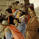 Alessandro Botticelli - Adoration of the Magi, detail