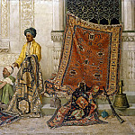 Fritz Von Uhde - Persian carpet dealers on the street