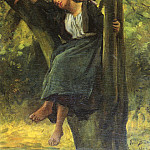 Asleep In The Woods SnD 1877 O C 61.6 by 50.8 cm, Jules Breton