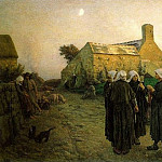 Evening in the Hamlet of Finistere, Jules Breton