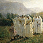 Jules Breton - Young Women Going to a Procession