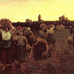 The Recall of the Gleaners, Jules Breton