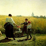 Jules Breton - The Departure for the Fields