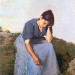 Jules Breton - Young Woman in a Field