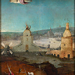 Temptation of St Anthony right wing of the triptych, Hieronymus Bosch