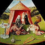 Hieronymus Bosch - The Seven Deadly Sins and the Four Last Things - Lust (workshop or follower)