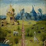Hieronymus Bosch - The Garden of Earthly Delights, Left wing - Paradise