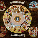 Hieronymus Bosch - The Seven Deadly Sins and the Four Last Things (workshop or follower)