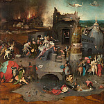 Temptation of St. Anthony, central panel of the triptych, Hieronymus Bosch