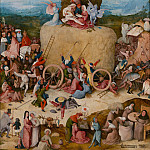 The Haywain, central panel, Hieronymus Bosch
