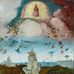 Hieronymus Bosch - The Haywain, left wing - Paradise