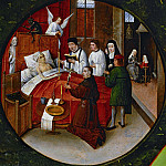 Hieronymus Bosch - The Seven Deadly Sins and the Four Last Things - Death of a sinner (workshop or follower)
