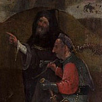 Saint Wilgefortis Triptych – Monk and Soldier, Hieronymus Bosch