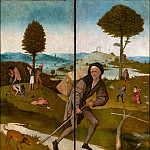 The Haywain, close wings – Wayfarer, Hieronymus Bosch