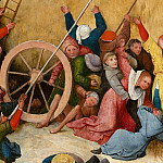 The Haywain, central panel, detail, Hieronymus Bosch