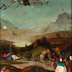 Hieronymus Bosch - Temptation of St. Anthony, left wing of the triptych