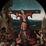 Saint Wilgefortis Triptych - The Crucified Female Martyr, Hieronymus Bosch