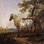 Nicolaes (Claes Pietersz.) Berchem - Two Horses in a Landscape