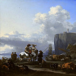 Nicolaes (Claes Pietersz.) Berchem - View of an Italian Port