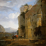 Nicolaes (Claes Pietersz.) Berchem - Italian Landscape with Ruined Aqueduct