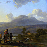 Italian Landscape at Sunset, Nicolaes (Claes Pietersz.) Berchem