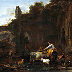 Nicolaes (Claes Pietersz.) Berchem - Shepherds beside Roman Ruins
