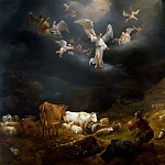 Nicolaes (Claes Pietersz.) Berchem - Annunciation to the shepherds