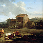 Nicolaes (Claes Pietersz.) Berchem - Landscape with fountain