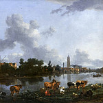 Nicolaes (Claes Pietersz.) Berchem - Вид Лунена с замком Кроненбург