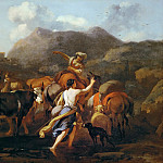 Nicolaes (Claes Pietersz.) Berchem - Cowherds and Herd