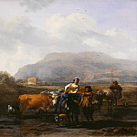 Nicolaes (Claes Pietersz.) Berchem - Travelling Peasants