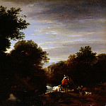Nicolaes (Claes Pietersz.) Berchem - Peasants at a Ford