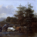 The shepherds with a herd, passing the stream, Nicolaes (Claes Pietersz.) Berchem