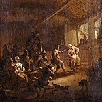 Nicolaes (Claes Pietersz.) Berchem - Peasant dance in a tavern