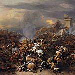 Nicolaes (Claes Pietersz.) Berchem - The Battle between Alexander and Porus