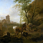 Nicolaes (Claes Pietersz.) Berchem - ITALIANATE LANDSCAPE WITH COWS