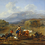 Nicolaes (Claes Pietersz.) Berchem - Landscape with Herd