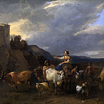 Nicolaes (Claes Pietersz.) Berchem - Back from the meadow