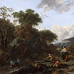 Nicolaes (Claes Pietersz.) Berchem - Landscape With Figures