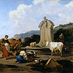Roman Fountain with Cattle and Figures, Nicolaes (Claes Pietersz.) Berchem