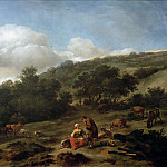 Hilly Landscape with Shepherds, Nicolaes (Claes Pietersz.) Berchem