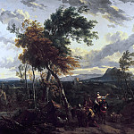 Nicolaes (Claes Pietersz.) Berchem - Evening Landscape with Figures