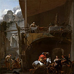 The return from the hunt, Nicolaes (Claes Pietersz.) Berchem