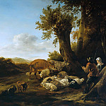 Nicolaes (Claes Pietersz.) Berchem - The shepherds with herd