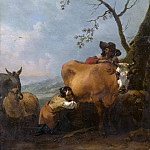 Nicolaes (Claes Pietersz.) Berchem - Milking-time