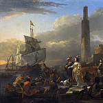Nicolaes (Claes Pietersz.) Berchem - A Harbour Scene