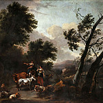 Italian landscape with shepherds, Nicolaes (Claes Pietersz.) Berchem
