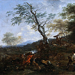 Nicolaes (Claes Pietersz.) Berchem - A Stag Hunt