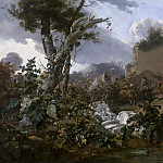 Nicolaes (Claes Pietersz.) Berchem - Italian landscape with riders