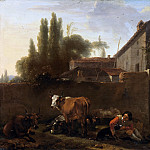 Nicolaes (Claes Pietersz.) Berchem - An Italian Farmhouse